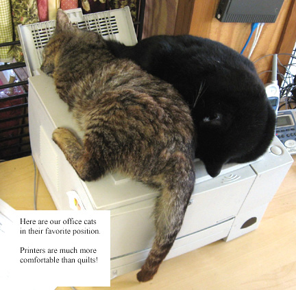 cats on printer