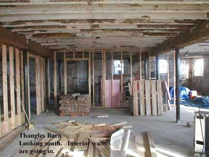 interior walls go up