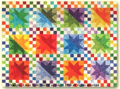 Thangles Split Star Project Linus Quilt