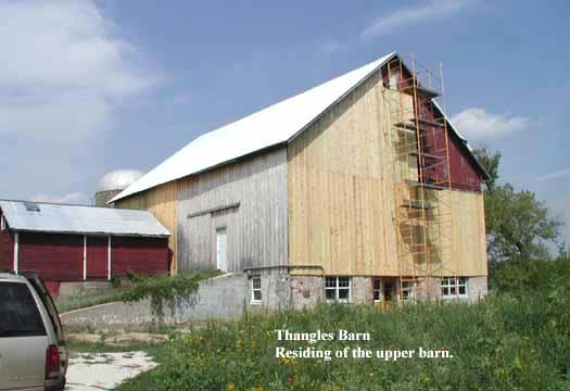 residing of the barn