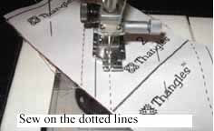 Sew on the dotted lines