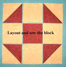 lay out and sew the shoofly block